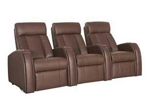 Leather home theater chairs
